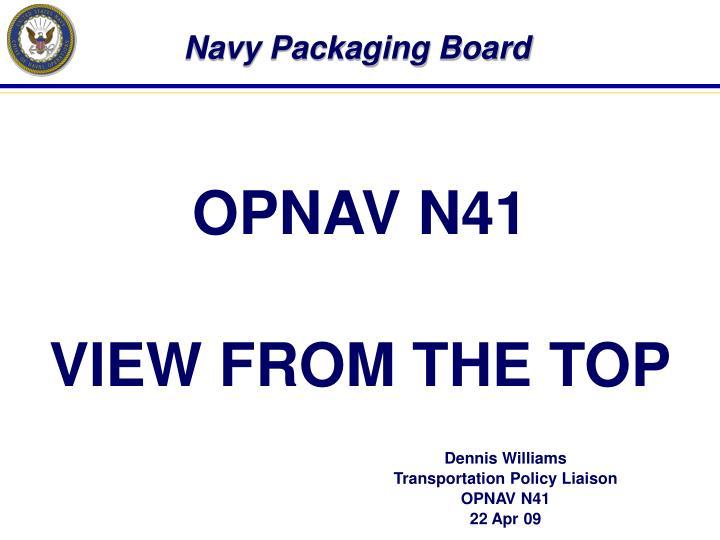 navy packaging board n.