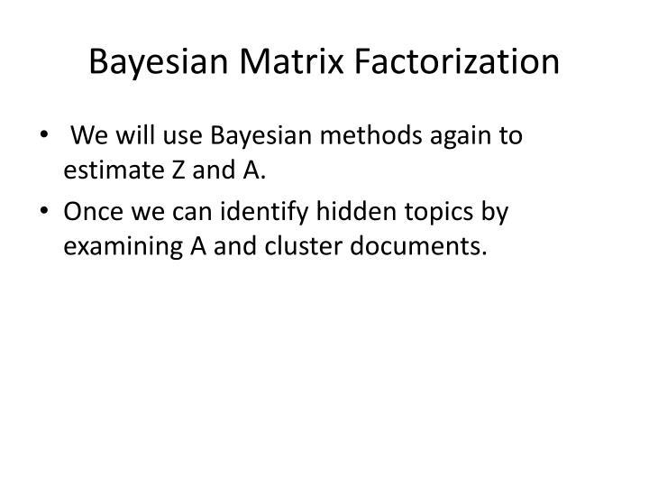 Bayesian Matrix Factorization
