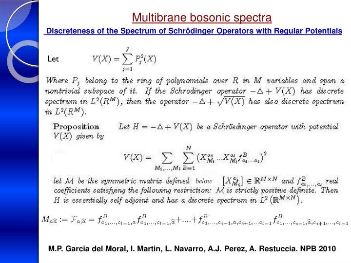 Multibrane bosonic spectra