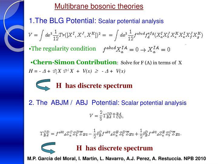 Multibrane bosonic theories