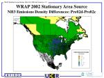 wrap 2002 stationary area source nh3 emissions density differences pre02d pre02c