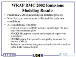 wrap rmc 2002 emissions modeling results