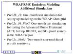 wrap rmc emissions modeling additional simulations