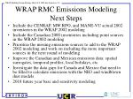 wrap rmc emissions modeling next steps
