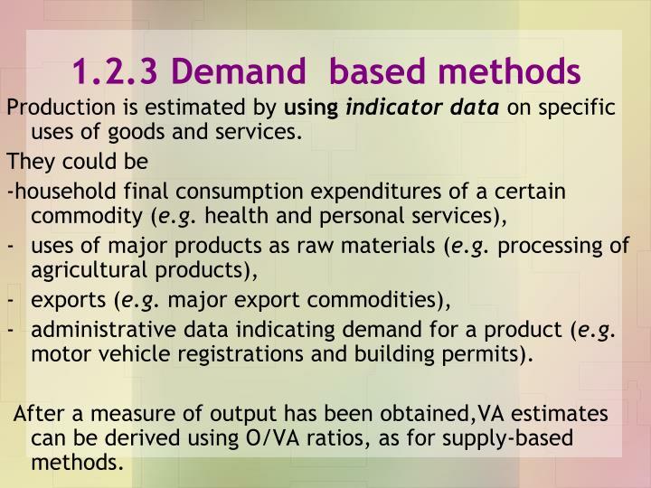 1.2.3 Demand  based methods