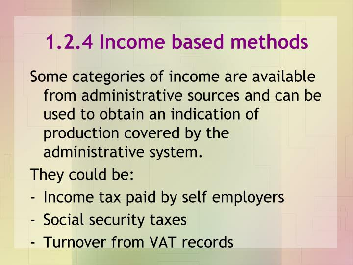 1.2.4 Income based methods