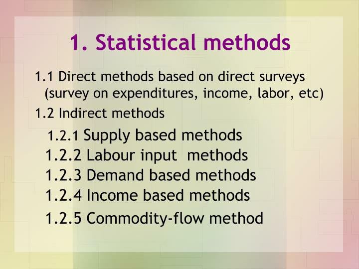 1. Statistical methods