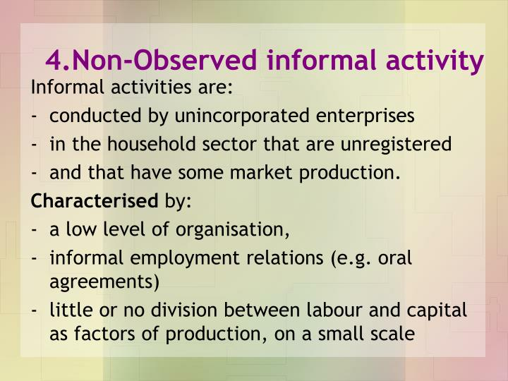 4.Non-Observed informal activity