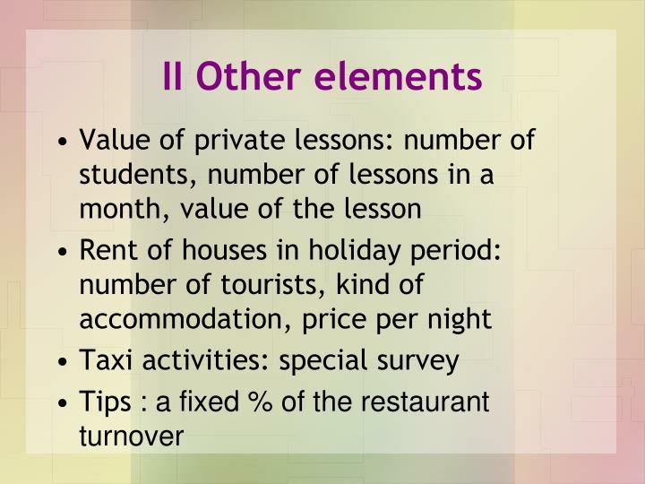 II Other elements