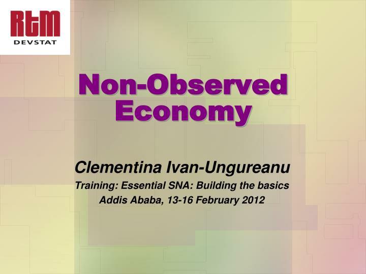 Non observed economy