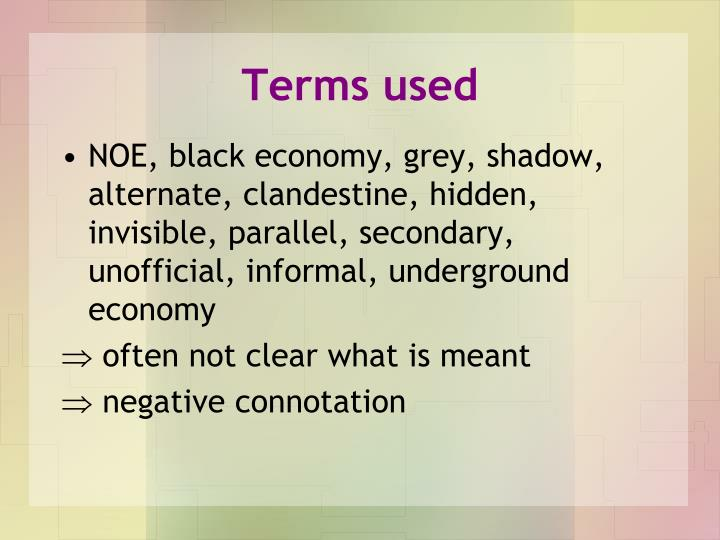 Terms used