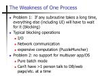 the weakness of one process1