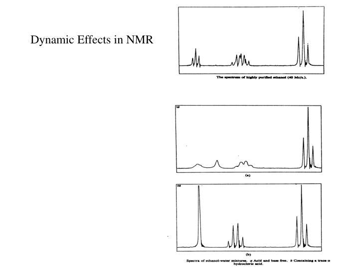 Dynamic effects in nmr