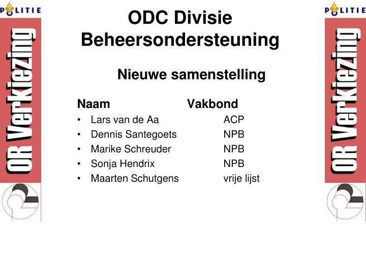 ODC Divisie Beheersondersteuning