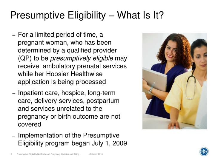 Presumptive Eligibility – What Is It?