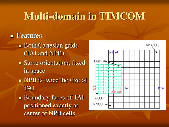Multi-domain in TIMCOM