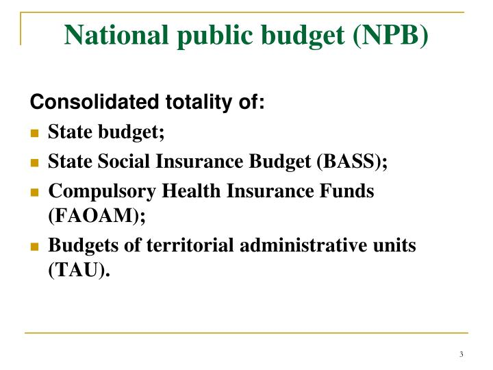National public budget