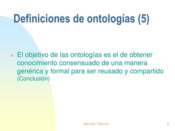 Definiciones de ontologías