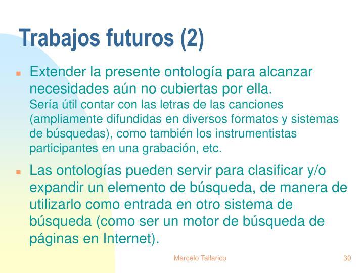 Trabajos futuros (2)