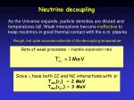 neutrino decoupling