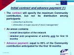 initial contract and advance payment 1