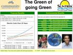 the green of going green