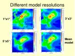 different model resolutions