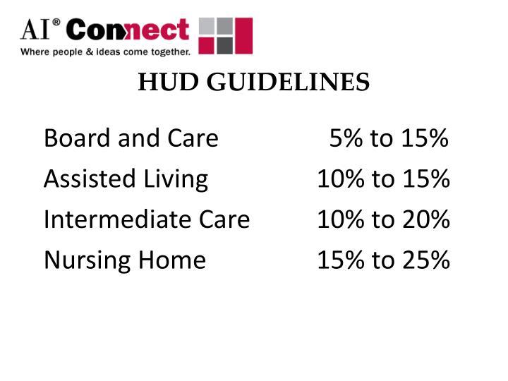 Hud guidelines