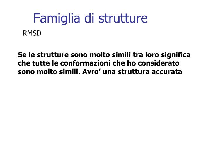 Famiglia di strutture