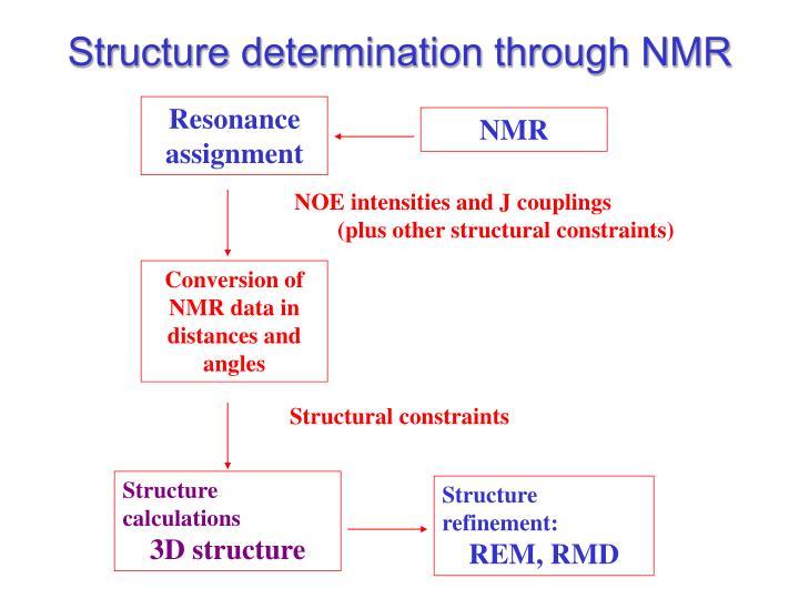Structure determination through NMR