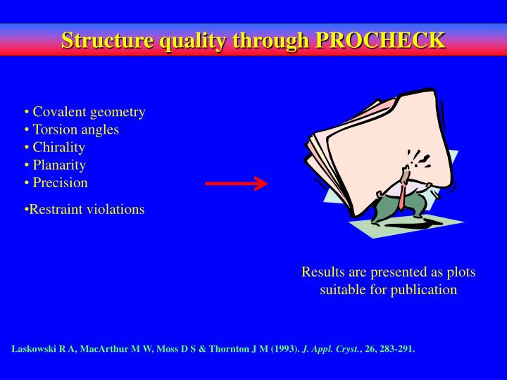 Structure quality through PROCHECK
