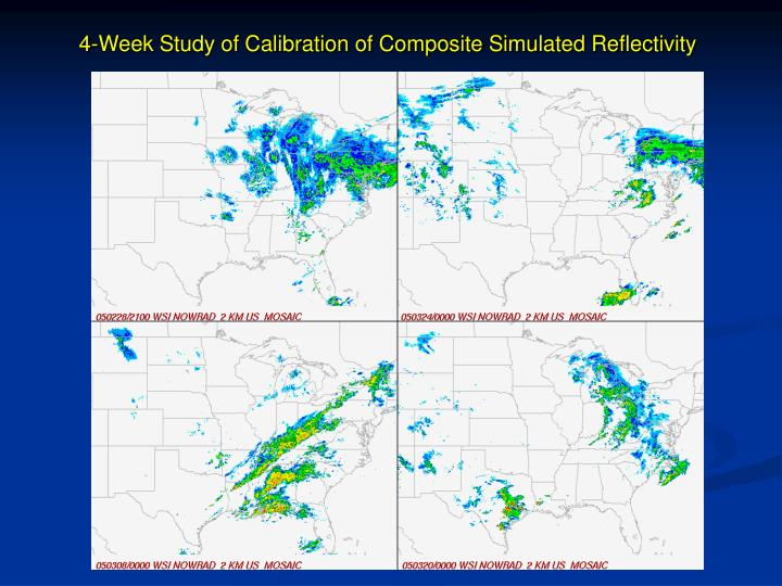 4-Week Study of Calibration of Composite Simulated Reflectivity