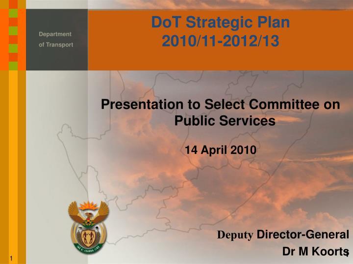 Dot strategic plan 2010 11 2012 13