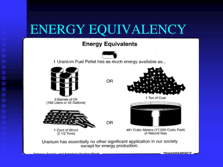ENERGY EQUIVALENCY