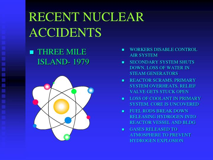 RECENT NUCLEAR ACCIDENTS