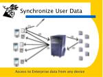 synchronize user data
