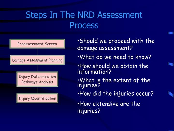 Steps In The NRD Assessment Process