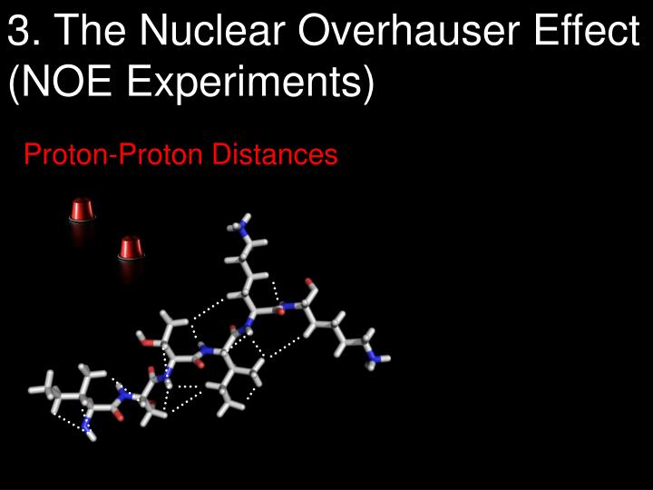 3. The Nuclear Overhauser Effect                      (NOE Experiments)