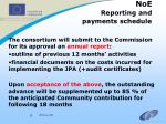 noe reporting and payments schedule