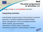 noe the joint programme of activities 1