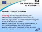 noe the joint programme of activities 3