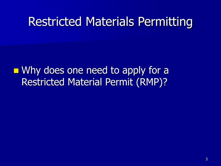 Restricted materials permitting2