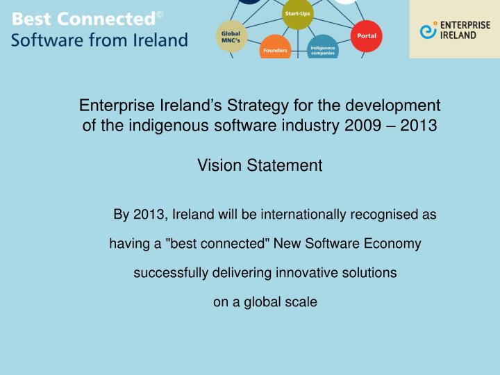 Enterprise Ireland's Strategy for the development