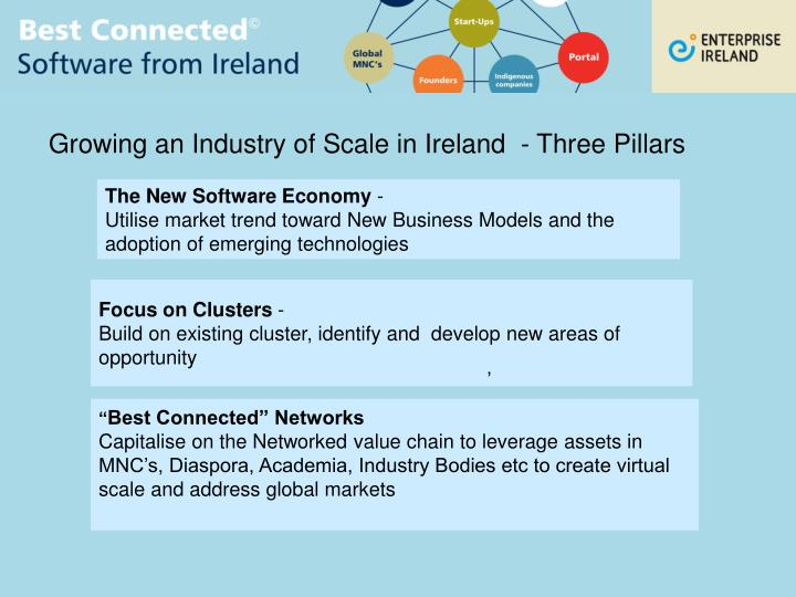 Growing an Industry of Scale in Ireland  - Three Pillars