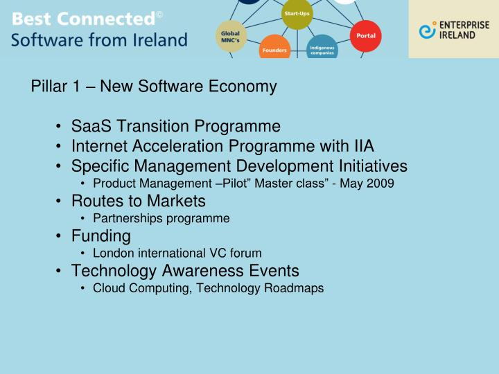 Pillar 1 – New Software Economy