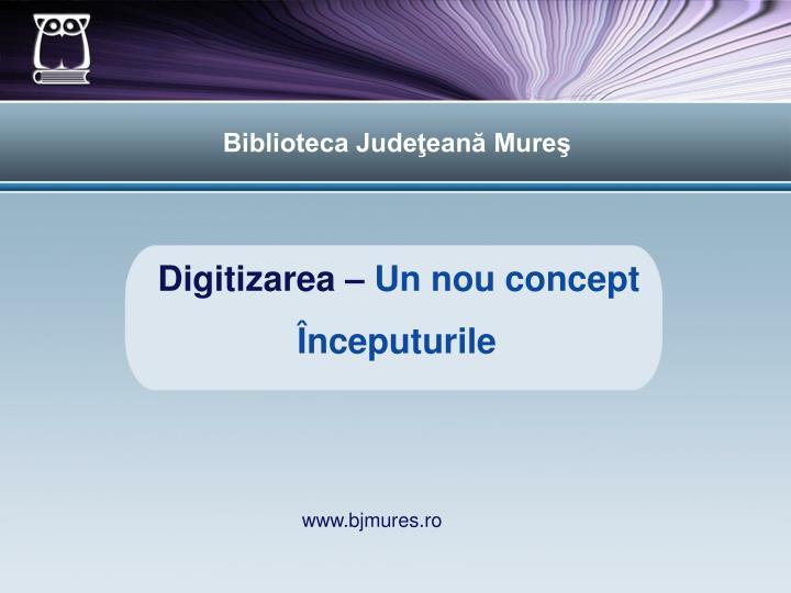 digitizarea un nou concept n.