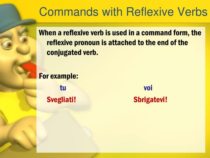 Commands with Reflexive Verbs