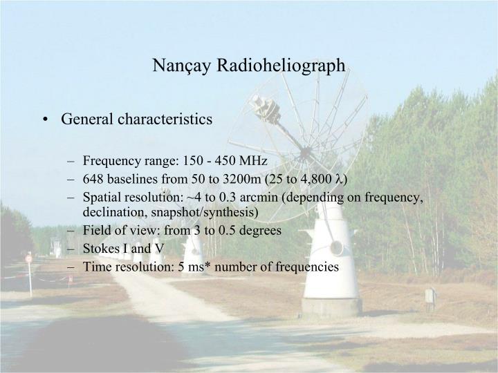 Nan ay radioheliograph