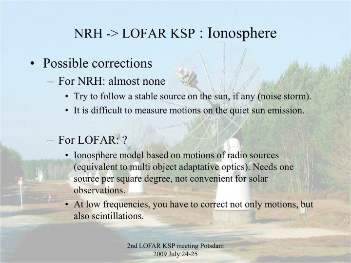 NRH -> LOFAR KSP