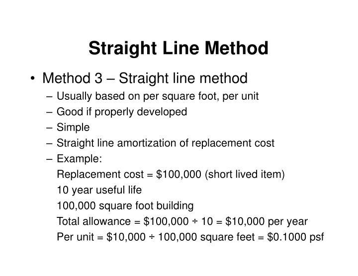 Straight Line Method